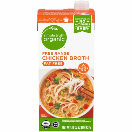 Simple Truth Organic® Fat Free Free Range Chicken Broth Perspective: front