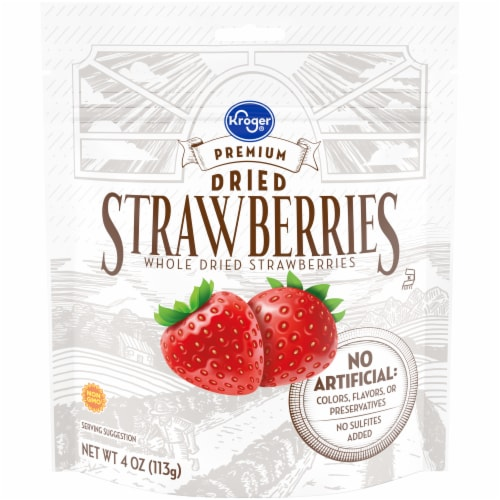 Kroger® Premium Whole Dried Strawberries Perspective: front