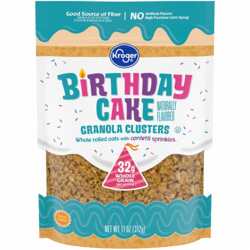Kroger® Birthday Cake Granola Clusters Perspective: front