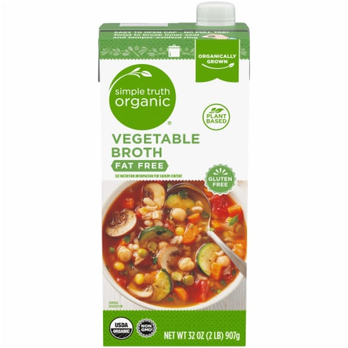 Simple Truth Organic® Fat Free Vegetable Broth Perspective: front
