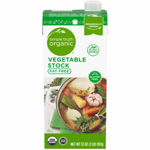 Simple Truth Organic® Fat Free Vegetable Stock Perspective: front