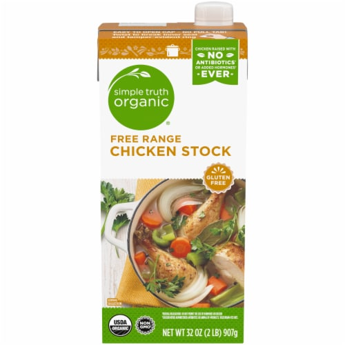 Simple Truth Organic® Gluten Free Free Range Chicken Stock Perspective: front