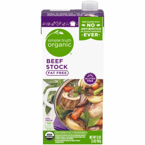 Simple Truth Organic® Fat Free Beef Stock Perspective: front