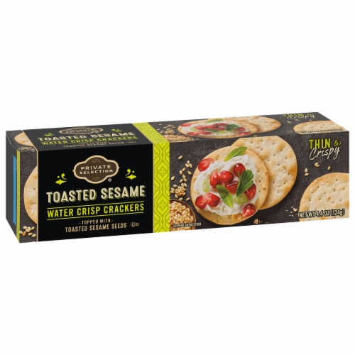 Private Selection® Toasted Sesame Water Crisp Crackers Perspective: front