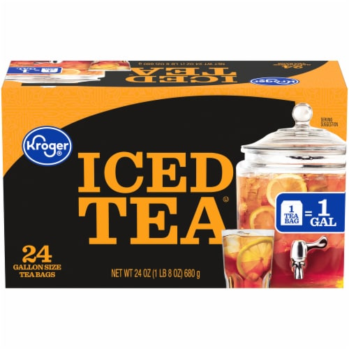 Kroger® Gallon Size Iced Tea Bags Perspective: front
