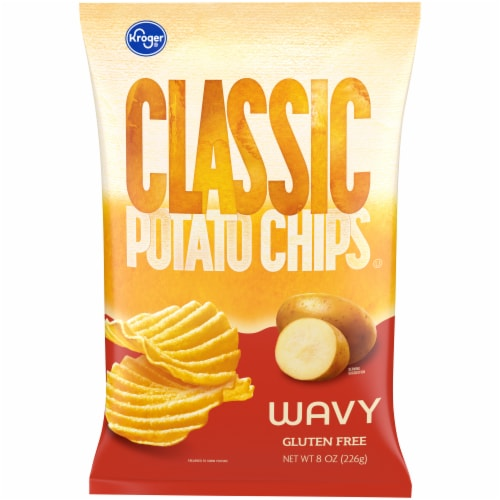 Kroger® Wavy Potato Chips Perspective: front