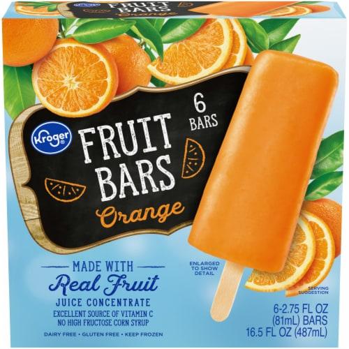 Kroger® Orange Frozen Fruit Bars Perspective: front