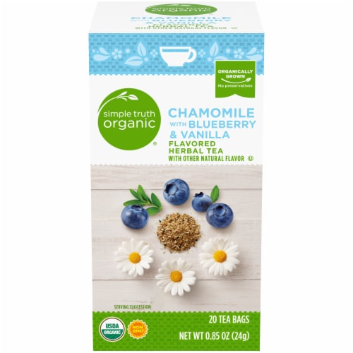 Simple Truth Organic® Chamomile Blueberry & Vanilla Herbal Tea Perspective: front