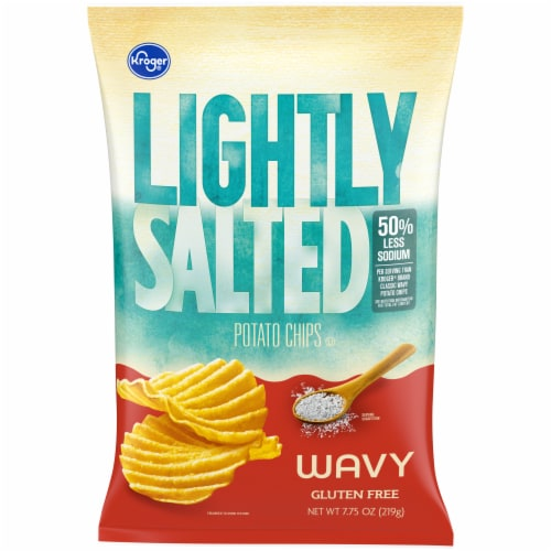 Kroger® Lightly Salted Wavy Potato Chips Perspective: front