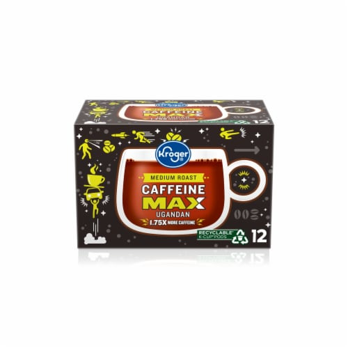 Kroger® Caffeine Max Ugandan Coffee K-Cups Perspective: front