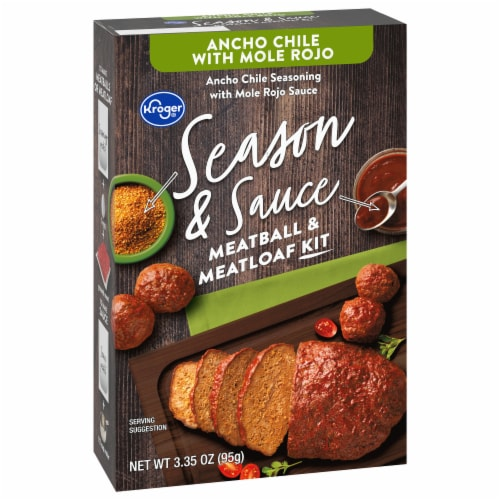 Kroger® Season & Sauce Ancho Chile with Rojo Mole Meatball & Meatloaf Kit Perspective: front