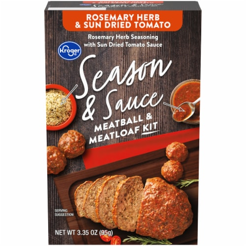 Kroger® Season & Sauce Rosemary Herb & Sun Dried Tomato Meatball & Meatloaf Kit Perspective: front