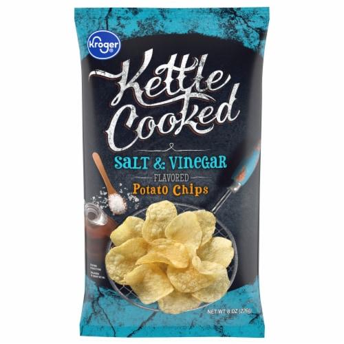 Kroger® Kettle Cooked Salt & Vinegar Flavored Potato Chips Perspective: front