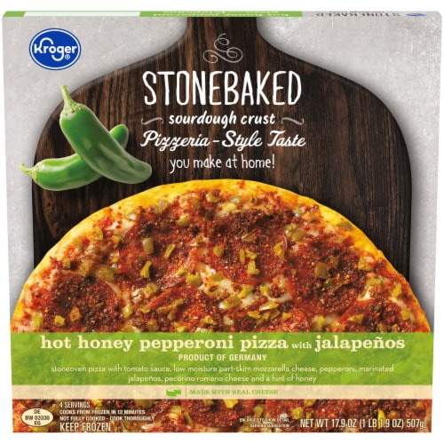 Kroger® Hot Honey Pepperoni Pizza with Jalapenos Perspective: front