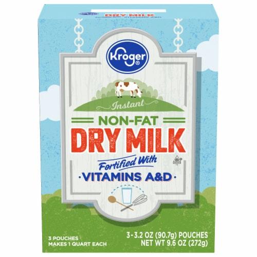 Kroger® Instant Non-Fat Dry Milk Pouches Perspective: front