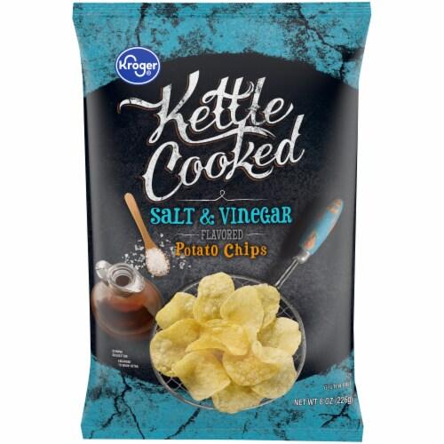 Kroger® Kettle Cooked Salt & Vinegar Potato Chips Perspective: front