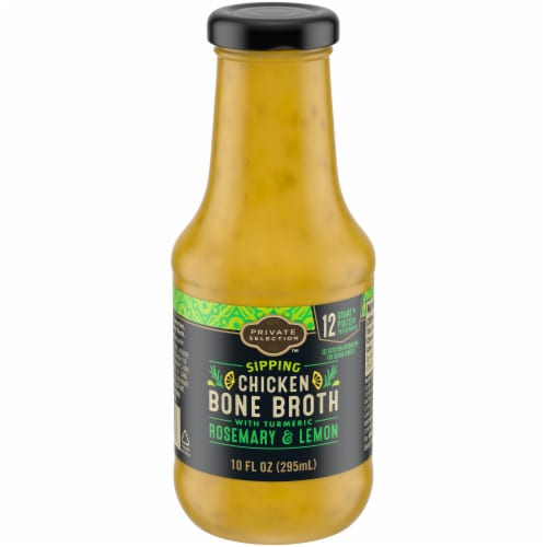 Private Selection™ Chicken Bone Broth With Tumeric Rosemary & Lemon Perspective: front