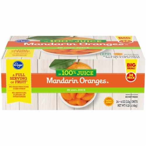 Kroger® Mandarin Oranges in 100% Juice Fruit Cups Perspective: front