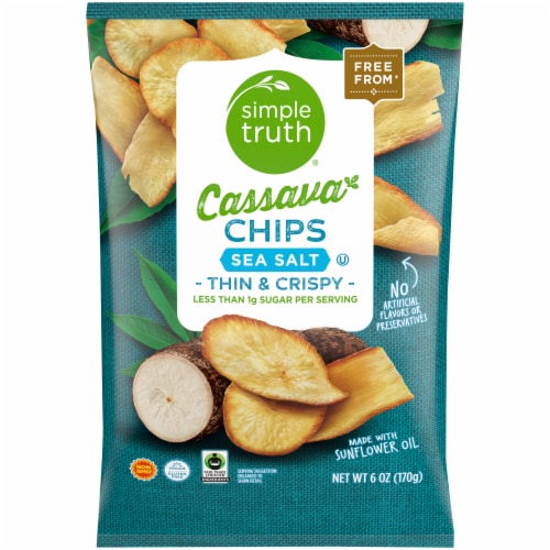 Simple Truth™ Sea Salt Cassava Chips Perspective: front