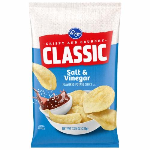 Kroger® Salt & Vinegar Flavored Potato Chips Perspective: front