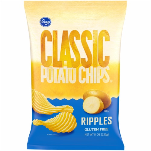 Kroger® Classic Ripples Potato Chips Perspective: front