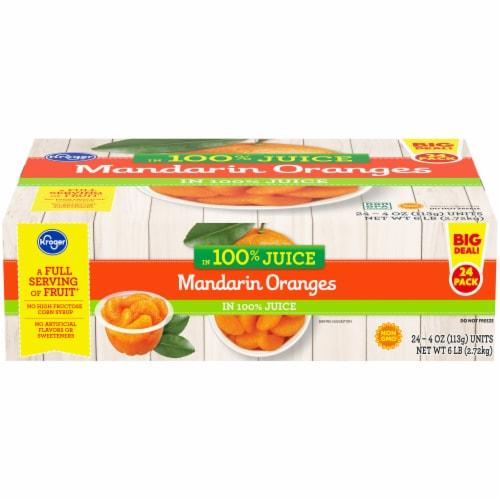 Kroger® Mandarin Oranges in 100% Juice Family Pack Perspective: front