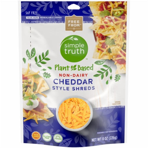 Simple Truth™ Non-Dairy Cheddar Style Shreds Perspective: front