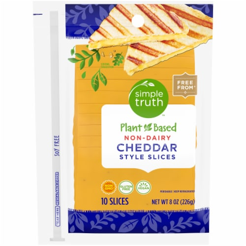 Simple Truth™ Plant Based Non-Dairy Cheddar Style Slices Perspective: front