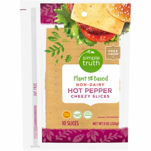 Simple Truth™ Plant Based Non-Dairy Hot Pepper Cheezy Slices Perspective: front