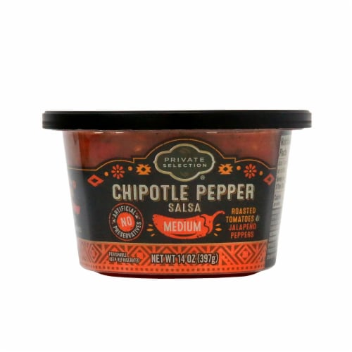 Private Selection® Medium Chipotle Pepper Salsa Perspective: front