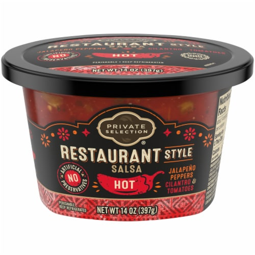 Private Selection® Hot Restaurant Style Salsa Perspective: front