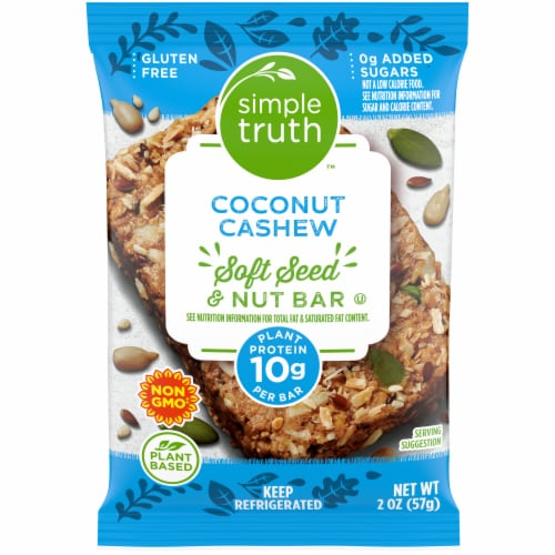 Simple Truth™ Coconut Cashew Soft Seed & Nut Bar Perspective: front