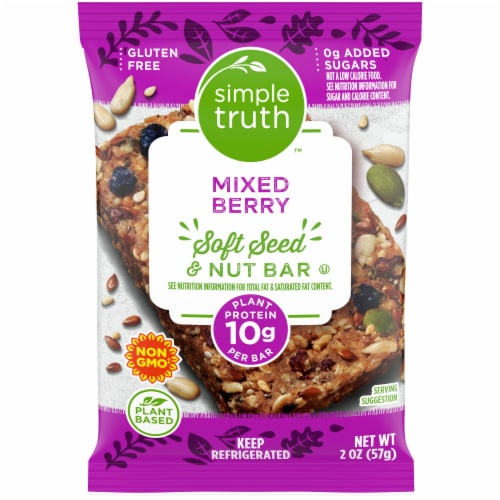 Simple Truth™ Mixed Berry Soft Seed & Nut Bar Perspective: front
