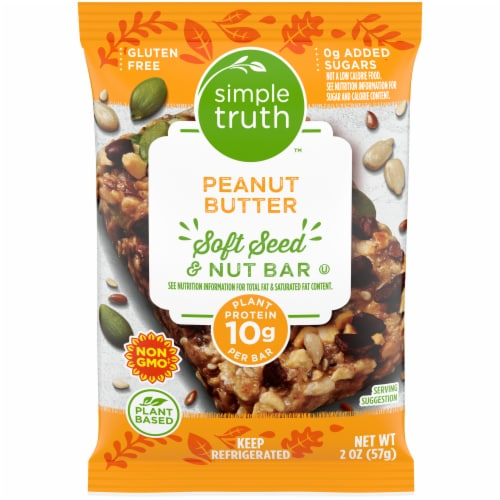 Simple Truth™ Peanut Butter Soft Seed & Nut Bar Perspective: front