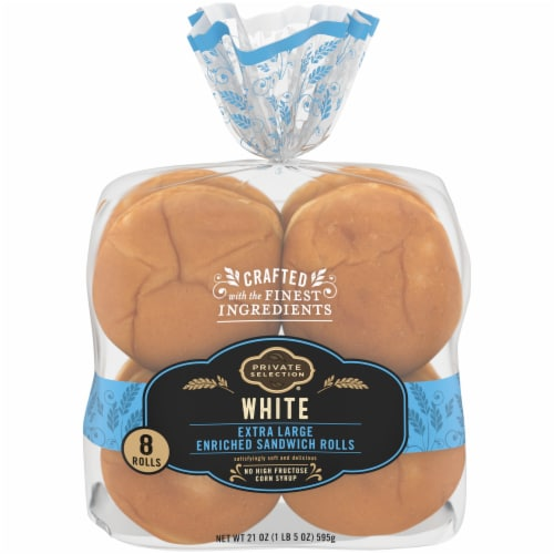 Private Selection® Enriched White Extra Large Sandwich Rolls Perspective: front