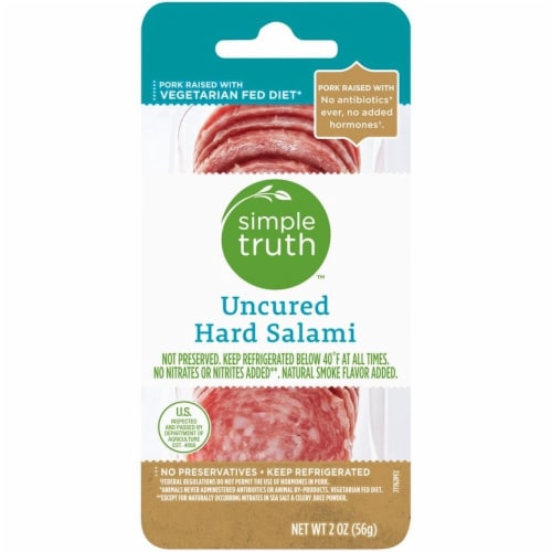 Simple Truth™ Uncured Hard Salami Perspective: front