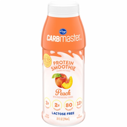 Kroger® CarbMaster® Peach Protein Smoothie Perspective: front