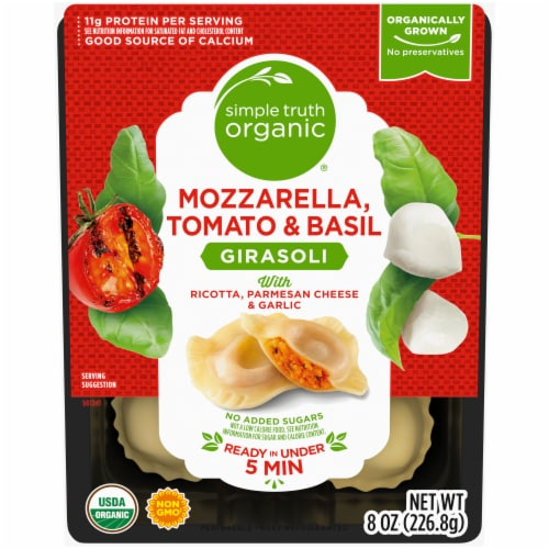 Simple Truth Organic™ Roasted Tomato & Mozzerella Ravioli Pasta Perspective: front