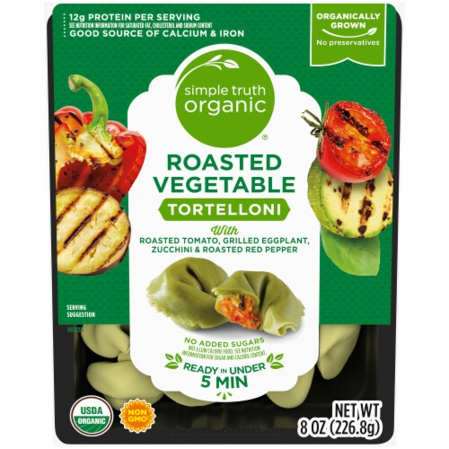 Simple Truth Organic® Roasted Vegetable Tortelloni Perspective: front