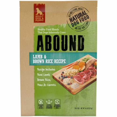Abound Lamb & Brown Rice Recipe Dry Dog Food Perspective: front