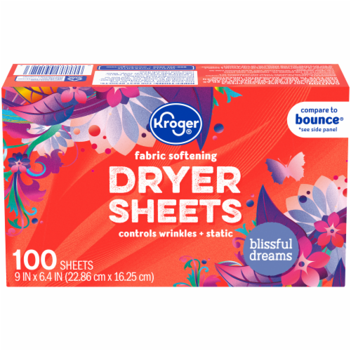 Kroger® Blissful Dreams Fabric Softening Dryer Sheets Perspective: front