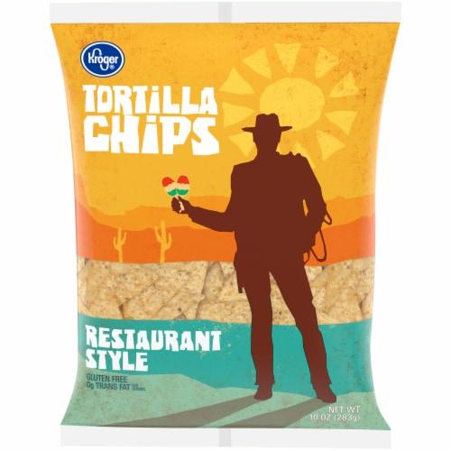 Kroger® Restaurant Style Tortilla Chips Perspective: front