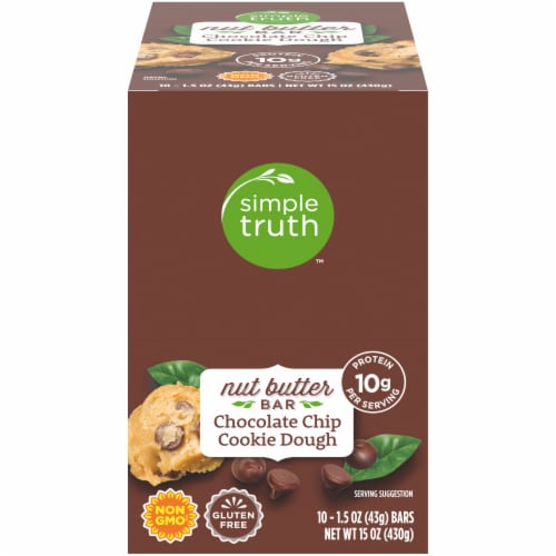 Simple Truth™ Chocolate Chip Cookie Dough Nutter Butter Bar Perspective: front