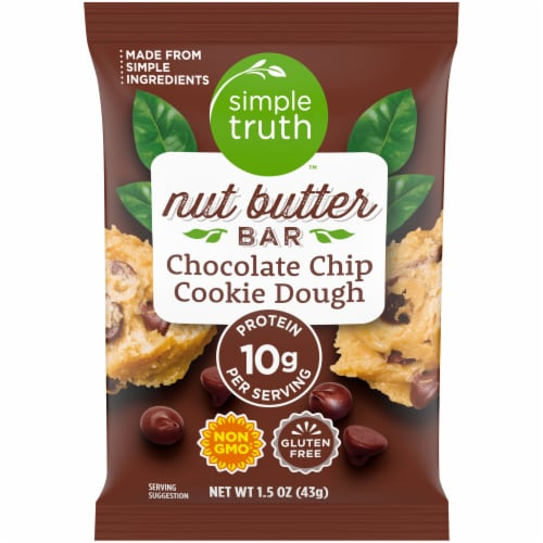 Simple Truth™ Chocolate Chip Cookie Dough Nut Butter Bar Perspective: front