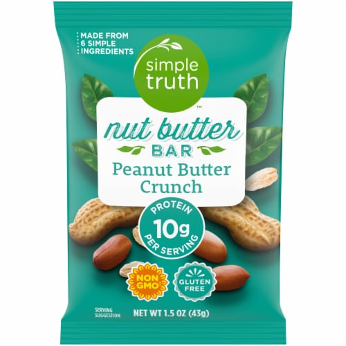 Simple Truth™ Peanut Butter Crunch Nut Butter Bar Perspective: front