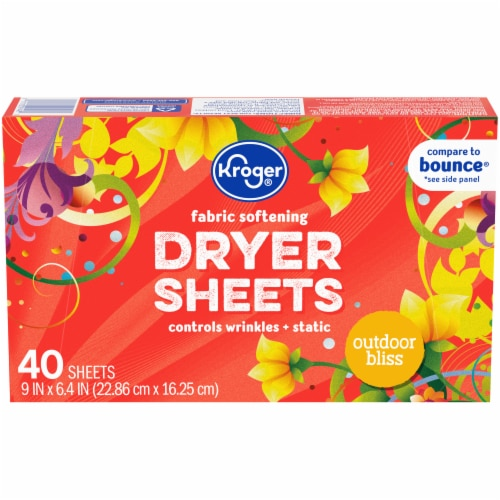 Kroger® Outdoor Bliss Fabric Softening Dryer Sheets Perspective: front