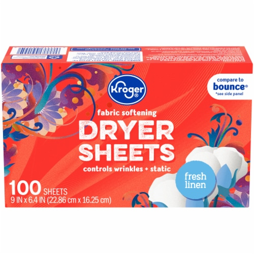 Kroger® Fresh Linen Fabric Softening Dryer Sheets Perspective: front