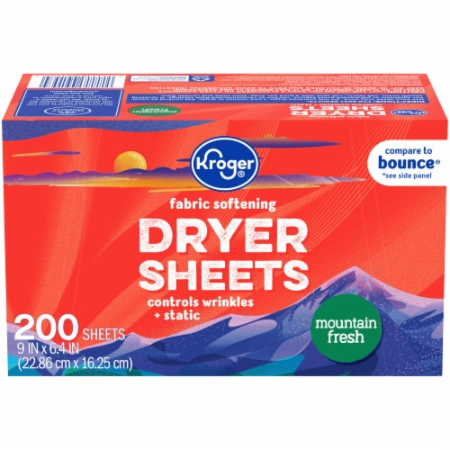 Kroger® Mountain Fresh Fabric Softening Dryer Sheets Perspective: front