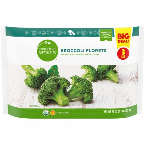 Simple Truth Organic® Frozen Broccoli Florets Perspective: front
