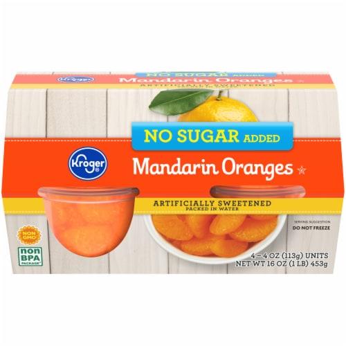 Kroger® No Sugar Added Mandarin Oranges Fruit Cups Perspective: front